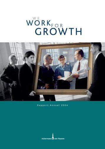 Rapport Annuel 2004 - Ackermans & van Haaren
