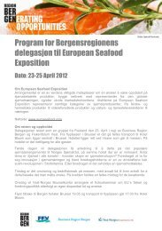 Program for Bergensregionens delegasjon til European Seafood ...