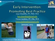 Early Intervention: Promoting Best Practice