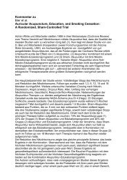 Kommentar zu Bier et al. Auricular Acupuncture, Education, and ...