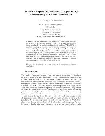 Exploiting Network Computing by Distributing Stochastic Simulation