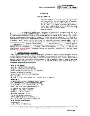 ,19 - ANEXO- II MINUTA CONTRATUAL Contrato de prestação de ...