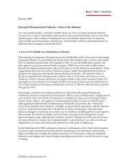 European Pharmaceutical Industry - Booz Allen Hamilton