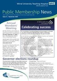 Membership Newsletter - Issue 8 - Wirral University Teaching ...