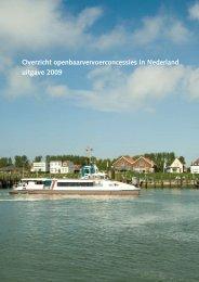 Overzicht openbaarvervoerconcessies in Nederland uitgave 2009