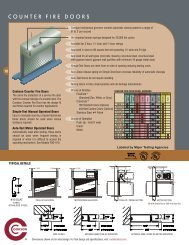 Cookson Counter Fire Doors Simple-Test Manual Operated Doors ...