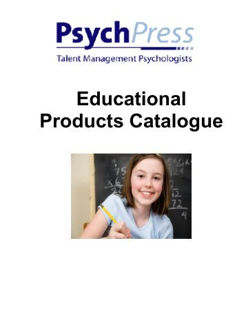 Educational Products Catalogue - Psych Press