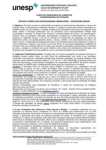 Resumo Guia e Roteiro Estagio Supervisionado - Unesp