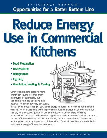 Commercial Kitchens Technical Brief - Efficiency Vermont