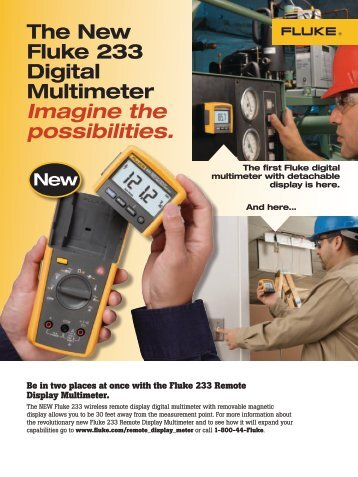 Fluke 233 Remote Display Multimeter Datasheet - Radar Inc