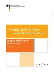 Männliche Fachkräfte in Kindertagesstätten - Koordinationsstelle ...