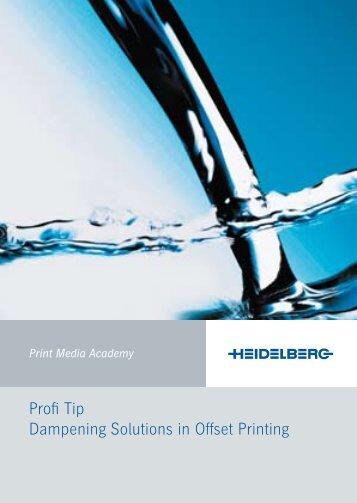 Profi Tip Dampening Solutions in Offset Printing - Urdanizdigital.com