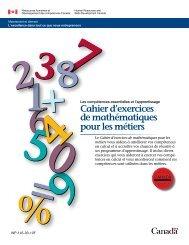 Cahier d'exercices de mathématiques pour les métiers