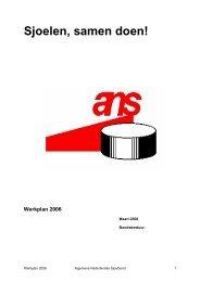 Werkplan 2006 - Algemene Nederlandse Sjoelbond