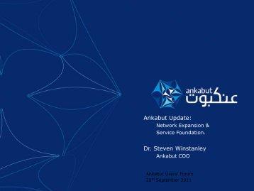 Ankabut Update: Dr. Steven Winstanley