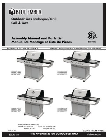 Assembly - Blue Ember Grills
