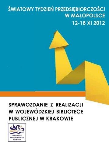 światowy tydzień przedsiębiorczości w małopolsce 12-18 xi 2012 ...