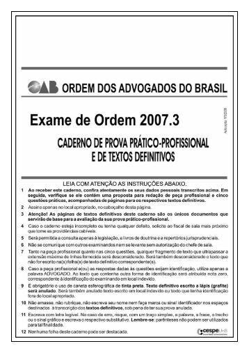 área: DIREITO EMPRESARIAL - CESPE / UnB