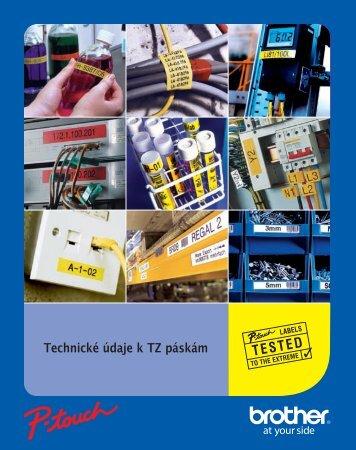 Technické informace k TZ páskám
