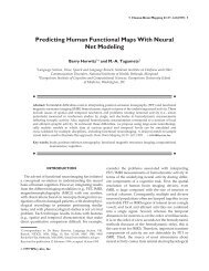 Predicting Human Functional Maps With Neural Net Modeling