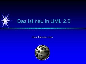 Das ist neu an UML 2 - softwareschule.ch