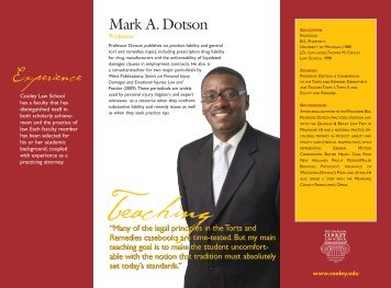 Mark Dotson - Thomas M. Cooley Law School