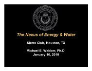 The Nexus of Energy & Water