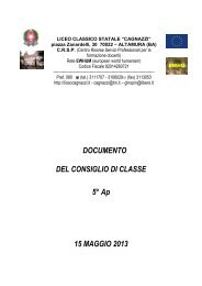 Documento V A - Liceo Statale Cagnazzi