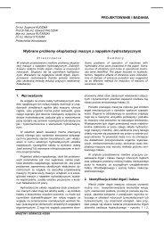 maszyny górnicze 4/2009 - Instytut Techniki Górniczej KOMAG