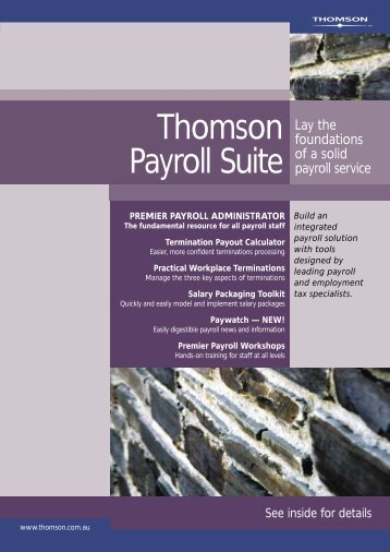 Thomson Payroll Suite