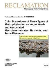 Culm breakdown of three types of macrophytes in Las Vegas Wash ...