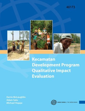 Kecamatan Development Program Qualitative Impact ... - psflibrary.org