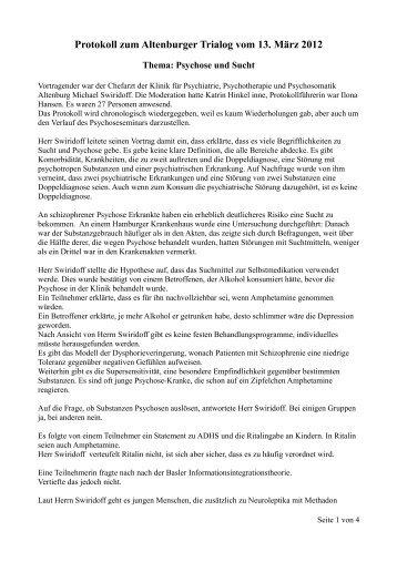 Protokoll zum Altenburger Trialog vom 13. März 2012