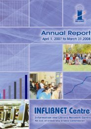 Annual Report07-08.pdf - INFLIBNET Centre