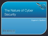 The Nature of Cyber Security - The 2013 World Congress in ...
