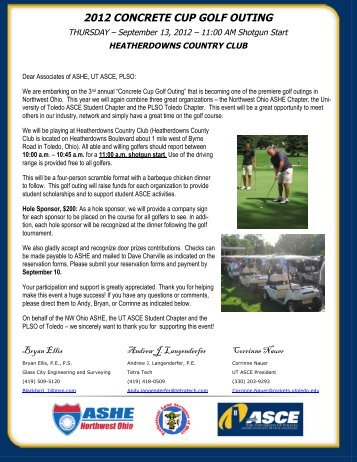 2012 concrete cup golf outing