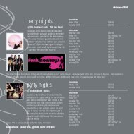 party nights party nights - Beales Hotels