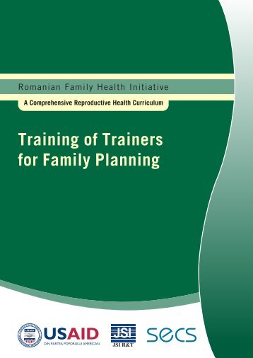 Training of Trainers for Family Planning - Romanian Family Health ...