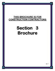 Section 3 Brochure