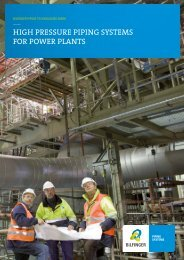 HigH Pressure PiPing systems for Power Plants - Bhr