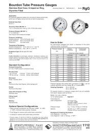 1112 - Pressure gauges and thermometers