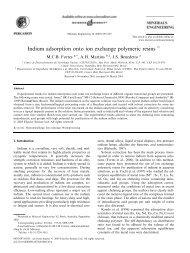 Indium adsorption onto ion exchange polymeric resins - CDTN
