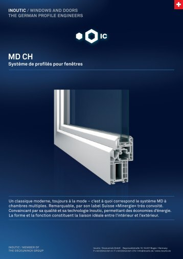 Fiche produit MD 100 - Inoutic