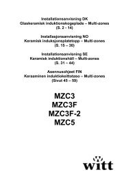 MZC3 MZC3F MZC3F-2 MZC5 - Witt Hvidevarer A/S