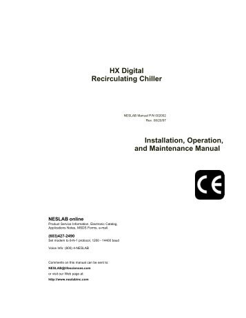 hx series recirculating chiller tc 400 controller chiller city rh yumpu com