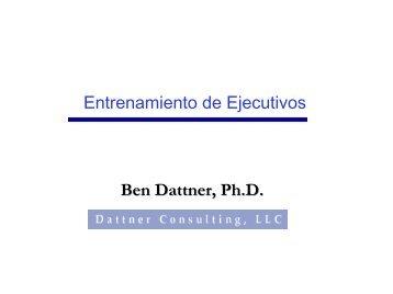 Entrenamiento de Ejecutivos - Dattner Consulting
