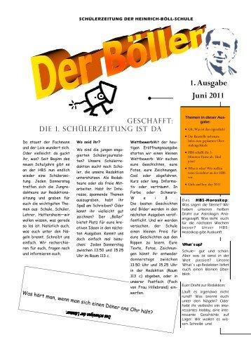 1. Ausgabe Juni 2011 - Heinrich-Böll-Schule Hattersheim