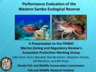 Performance Evaluation of the Western Sambo Ecological ... - NOAA