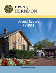 FY 2012 Annual Report - Town of Herndon