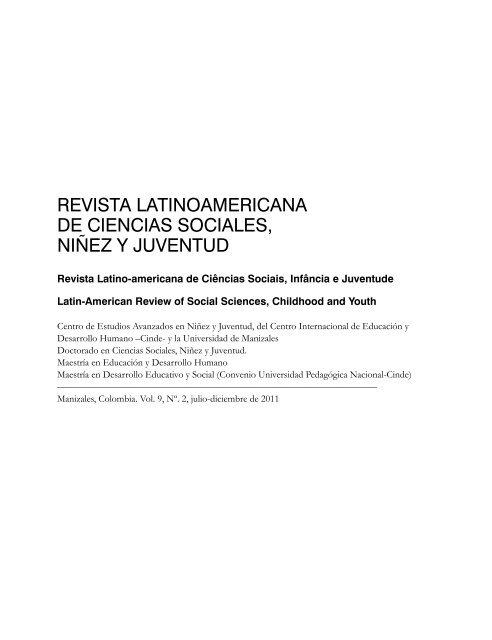Revista Latinoamericana De Ciencias Sociales Niãez Y